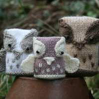 Knitting PDF Pattern - The Hoot Family - Cute Owl Softies