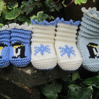 Winter Booties - Knitting Pattern in pdf for baby booties