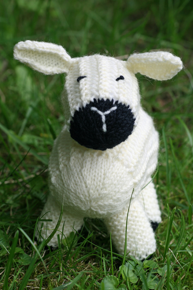 Knitting Pdf Pattern Sheep Soft Toy Lucy Lamb Folksy