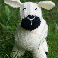 KNITTING pdf PATTERN - Sheep Soft Toy - Lucy Lamb