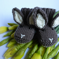 KNITTING PATTERN in pdf - Baby Bunny Booties