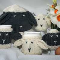 "Knitting Pattern in pdf - ""Breakfast Cosies for Ewe"""