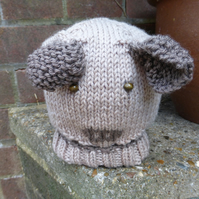 KNITTING PATTERN for Puppy Dog Baby Hat