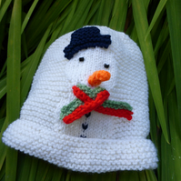 KNITTING PATTERN for a Baby's Snowman Hat