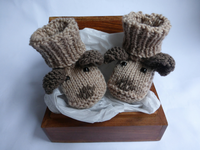 KNITTING PATTERN for Puppy Dog Baby Booties - Folksy