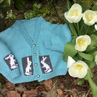 KNITTING PATTERN to make a Bunny Baby Cardigan