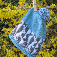 KNITTING PATTERN to make a Fair Isle Bunny Baby Hat