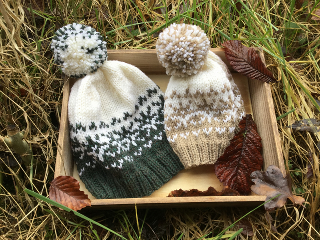 KNITTING PATTERN in pdf to make a Woolly Snowflake Hat
