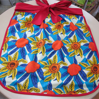 Tropical Print Half Apron