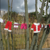 Christmas decoration 'Santa's Laundry' Bunting