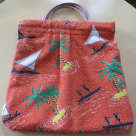 Beach Bag in Vintage Print