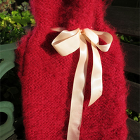 Fluffy Pink Hot Water Bottle Cover