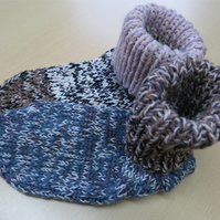 Slipper Socks 4 - 6 Marble