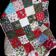 Christmas Fabric Lap Quilt