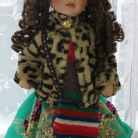Dressed China Faced Doll