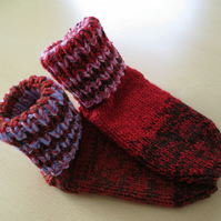 Slipper socks 1 - 3 Berry pudding