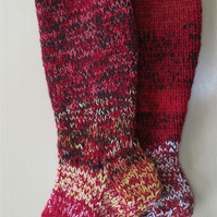 Welly Socks 4 - 6 falling leaves
