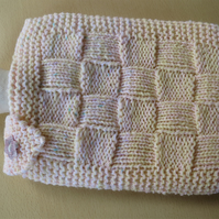 Knitted Hot Water Bottle Cover And Hot Water Bottle