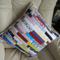 "Patchwork 17 "" Cushion in Strips"