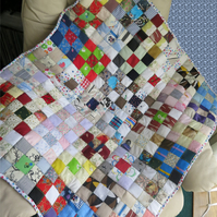 Small Squares Lap Quilt or Cot Quilt