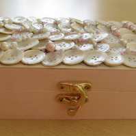 Pearl Button Sewing Box