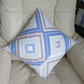 Patchwork Cushion Made from Striped Strips