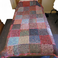 Knitted Chunky Blanket or Throw