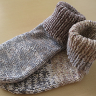 slipper Socks 7 - 9 sandstone