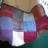 Knitted Lap Blanket or Knitted Rug