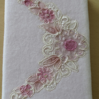 A3 Fleece Covered Notebook With Embroidery Panel