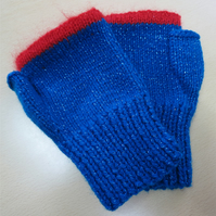 Fingerless Mitts Turquoise Sparkle