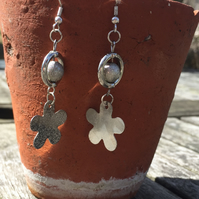 Decorative silver plated earrings