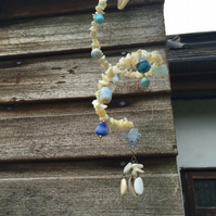 Shell and glass bead hanging decoration