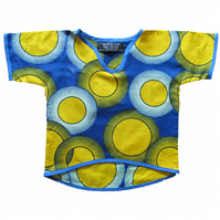 African inspired cotton wax print top for babies & toddlers - Jinja Baby