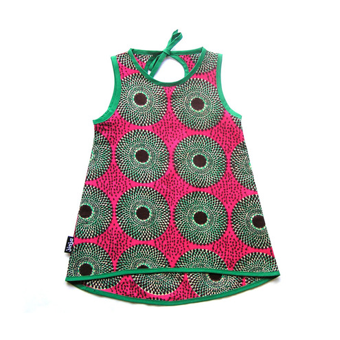African inspired cotton wax print dress for baby (6-12 months)