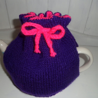 Pink and Purple Tea Cosy