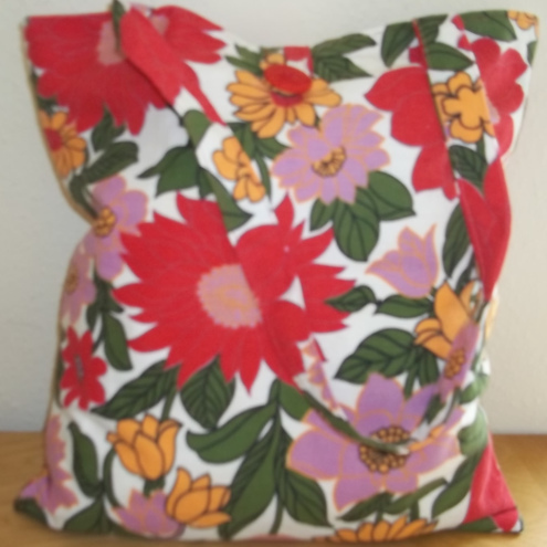 Tote bag Red Flower