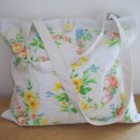 Tote bag patchwork Flower