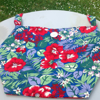 Flowery shoulder bag recycled