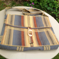 Striped Fabric Bag