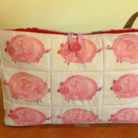 Shoulder Bag Pink Pigs