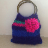 Handbag knitted Mohair