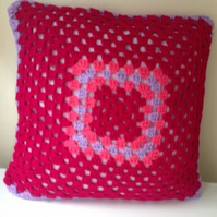 Pink Crochet Cushion