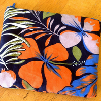 Floral cotton Make up bag Cosmetic purse