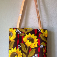 Sunflower Tote Shoulder Bag with Matching Purse