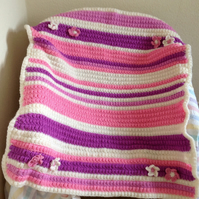 Pinks and Cream Crochet Baby Blanket