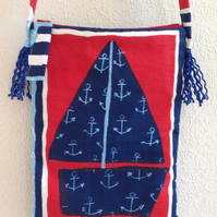 Boats Cotton Shoulder Bag