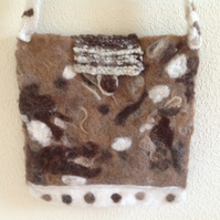 Handmade Felted Shoulder Bag