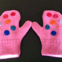 Guernsey Wool Embroidered Mittens