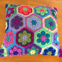 Crochet Hexagon Cushion